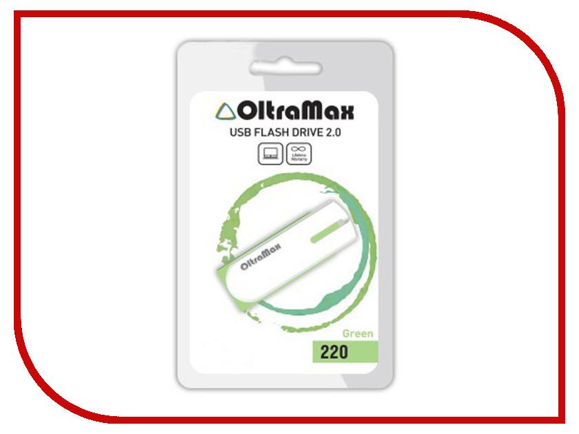 USB Flash Drive 64Gb - OltraMax 220 Green OM-64GB-220-Green