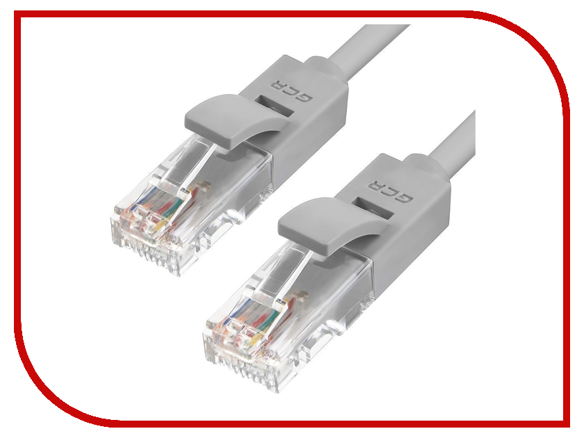 Greenconnect - Аксессуар Greenconnect UTP 24AWG cat.5e RJ45 T568B 0.2m Grey GCR-LNC03-0.2m