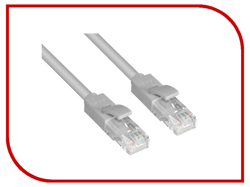 Greenconnect - Аксессуар Greenconnect UTP 24AWG cat.5e RJ45 T568B 0.5m Grey GCR-LNC03-0.5m