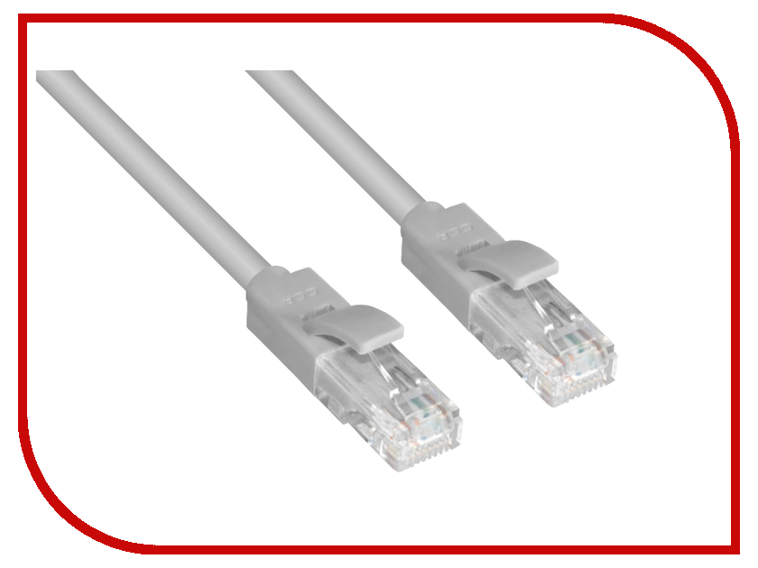 Greenconnect - Аксессуар Greenconnect Premium UTP 24AWG cat.5e RJ45 T568B 0.1m Grey GCR-LNC031-0.1m