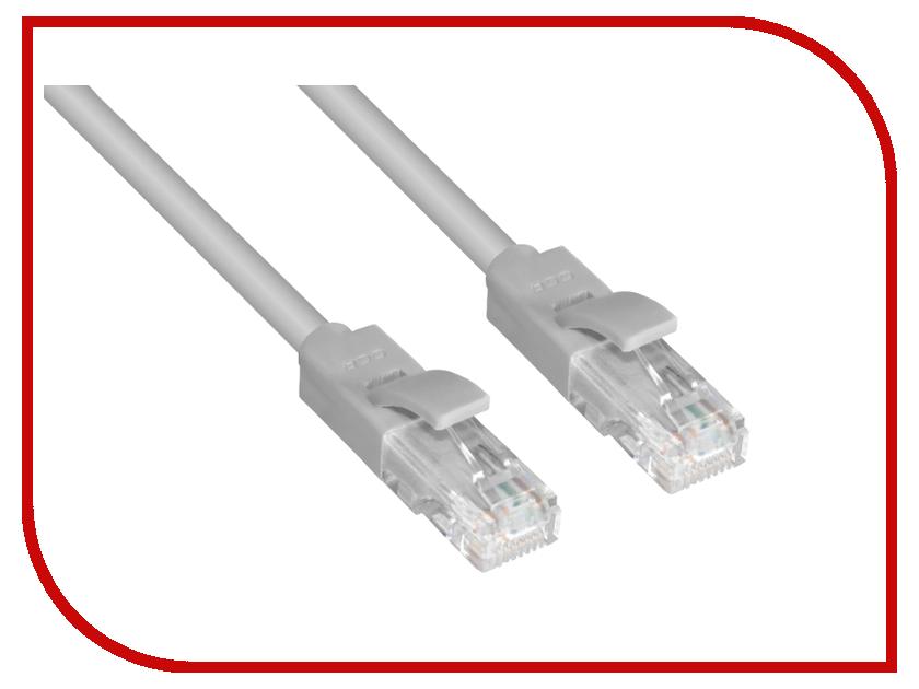 Аксессуар Greenconnect Premium UTP 24AWG cat.5e RJ45 T568B 0.9m Grey GCR-LNC031-0.9m