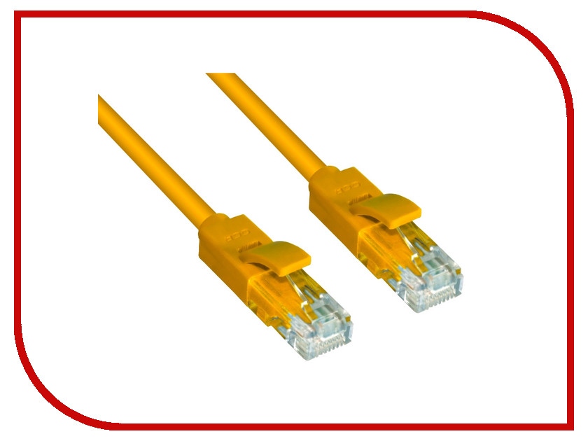 Аксессуар Greenconnect UTP 24AWG cat.5e RJ45 T568B 0.15m Yellow GCR-LNC02-0.15m<br>