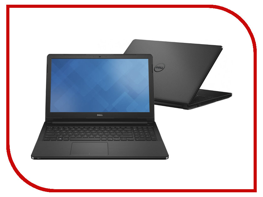 Ноутбук Dell Vostro 3558 3558-4483 Intel Pentium 3825U 1.9 GHz/4096Mb/500Gb/DVD-RW/Intel HD Graphics/Wi-Fi/Bluetooth/Cam/15.6/1366x768/Linux<br>