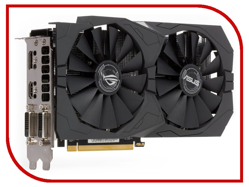 Видеокарта ASUS Radeon RX 470 1250Mhz PCI-E 3.0 4096Mb 6600Mhz 256 bit 2xDVI HDMI HDCP STRIX-RX470-O4G-GAMING<br>