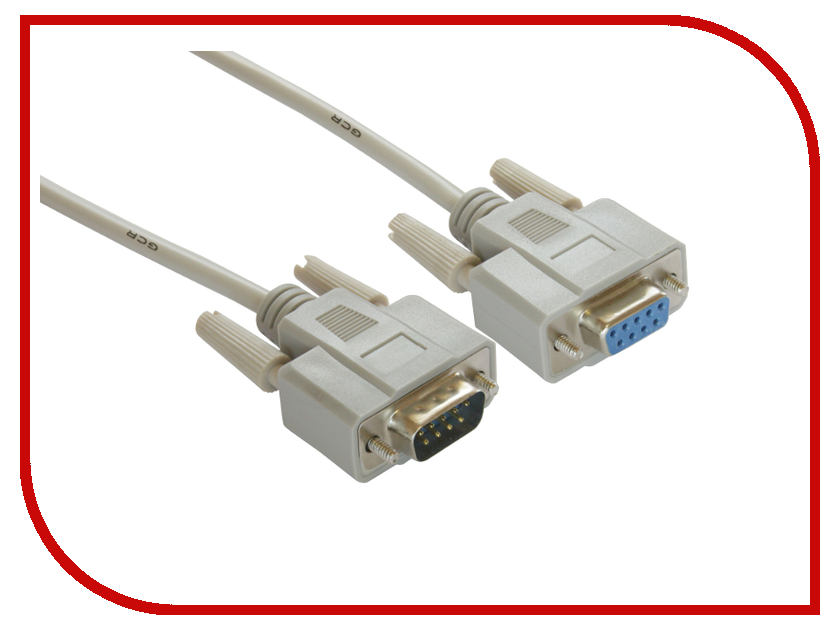 Аксессуар Greenconnect COM DB9/DB9 9M/9F 3m Grey GCR-DB903-3m аксессуар greenconnect hdmi m m v1 4 0 3m black red gcr hm350 0 3m