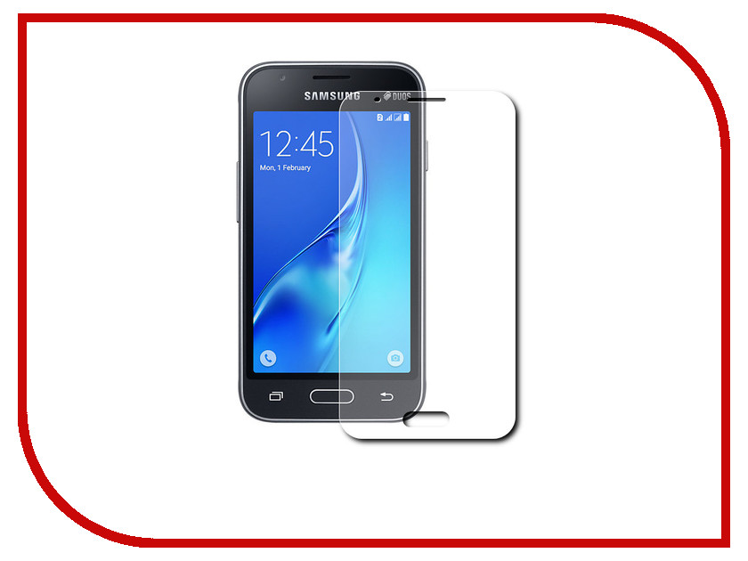 Аксессуар Защитное стекло Samsung Galaxy J1 Mini 2016 SkinBox 0.3mm 2.5D глянцевое SP-270 аксессуар защитное стекло samsung galaxy j1 mini 2016 borasco 0 26 mm