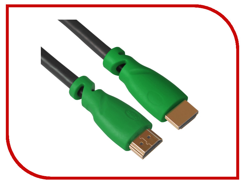 Аксессуар Greenconnect HDMI M/M v1.4 10m Green GCR-HM321-10.0m<br>