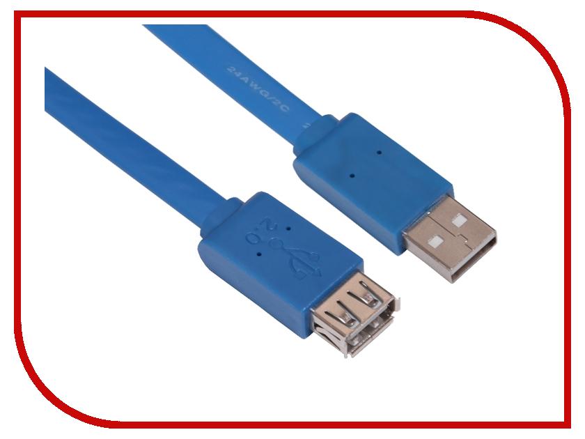 Аксессуар Greenconnect PRO USB 2.0 AM-AF Blue GCR-UEC2M2-BD-1.5m<br>