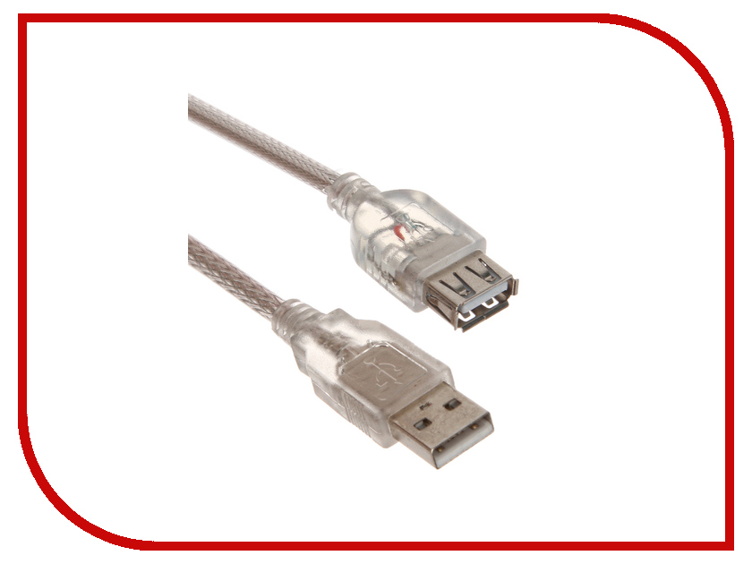 ��������� Greenconnect Premium USB 2.0 AM-AF Transparent GCR-UEC2M-BD2S-F-1.0m