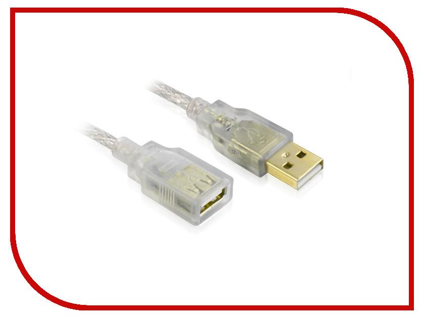 Аксессуар Greenconnect Premium USB 2.0 AM-AF Transparent GCR-UEC21M-BD2SG-0.3m