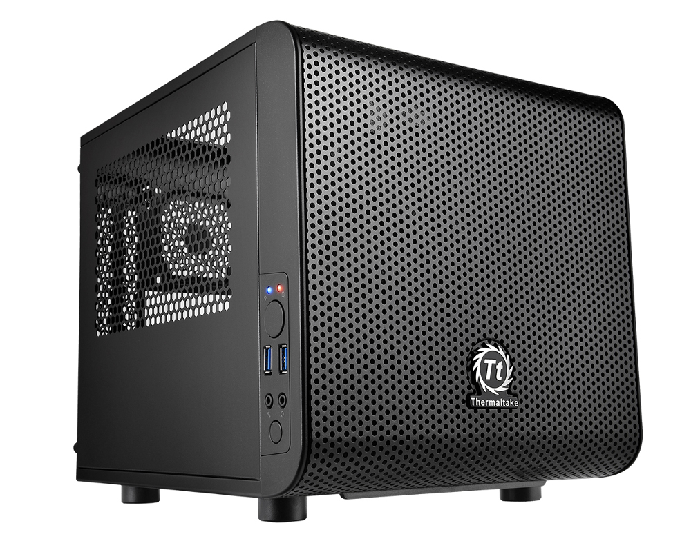 Корпус Thermaltake Core V1 Black CA-1B8-00S1WN-00 thermaltake suppressor f1 ca 1e6 00s1wn 00 black