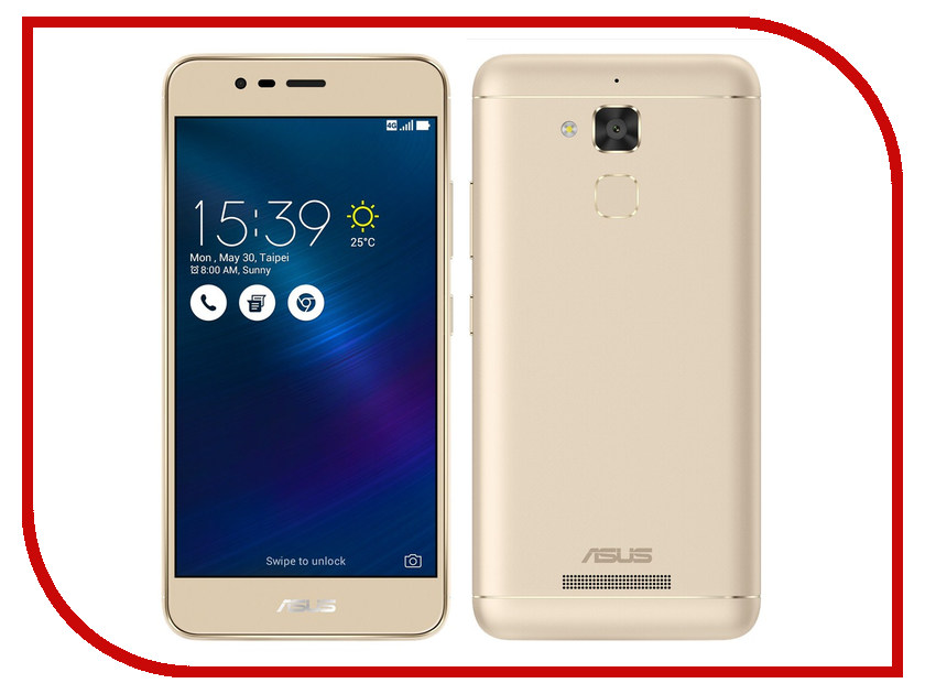 Сотовый телефон ASUS ZenFone 3 Max ZC520TL 16Gb Gold ноутбук lenovo v110 15iap 80tg00yark intel pentium n4200 1 1 ghz 4096mb 500gb intel hd graphics wi fi cam 15 6 1366x768 windows 10 64 bit
