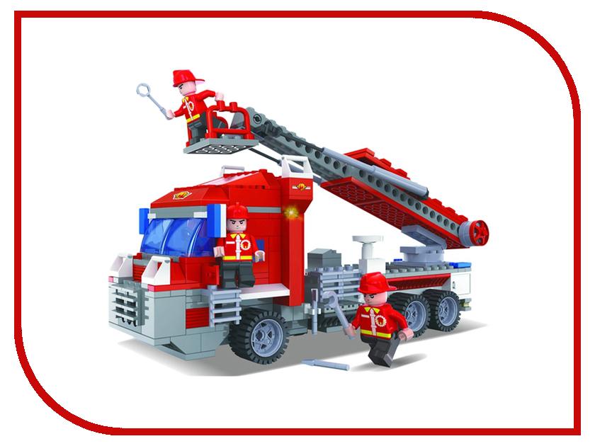 Игрушка Конструктор 1Toy Спасатели, пожарная машина 298 дет. Т57040<br>