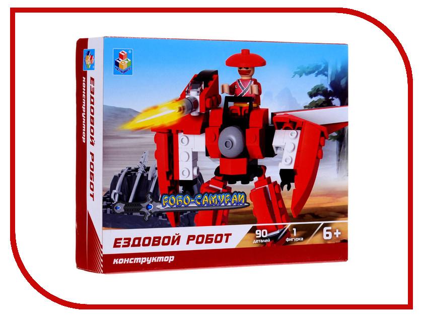 Игрушка Конструктор 1Toy Робосамурай, ездовой робот 90 дет. Т57032<br>