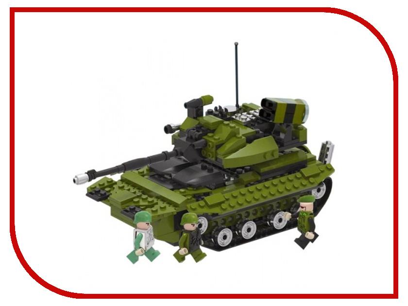 Игрушка Конструктор 1Toy Военная техника, боевой танк 260 дет. Т57023<br>