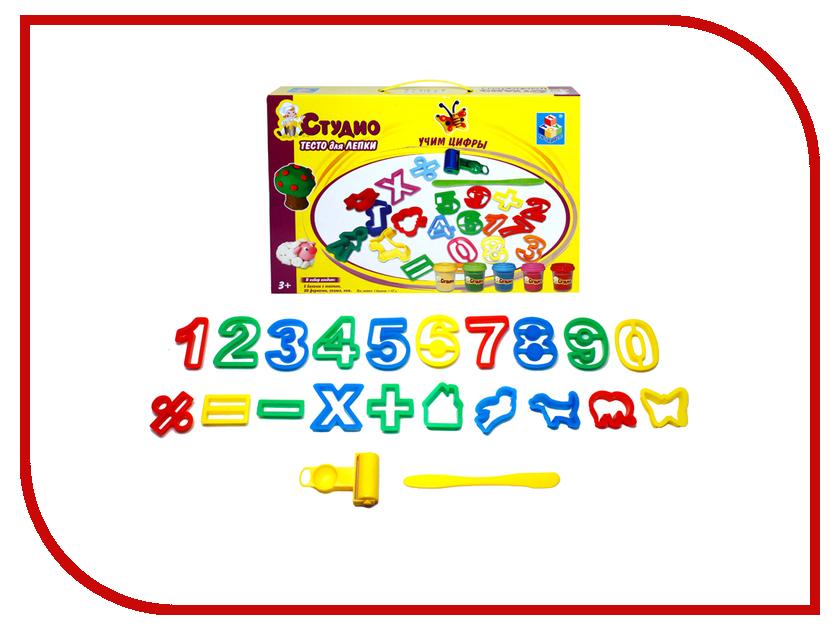 Набор для лепки 1Toy Студио Учим цифры Т54848