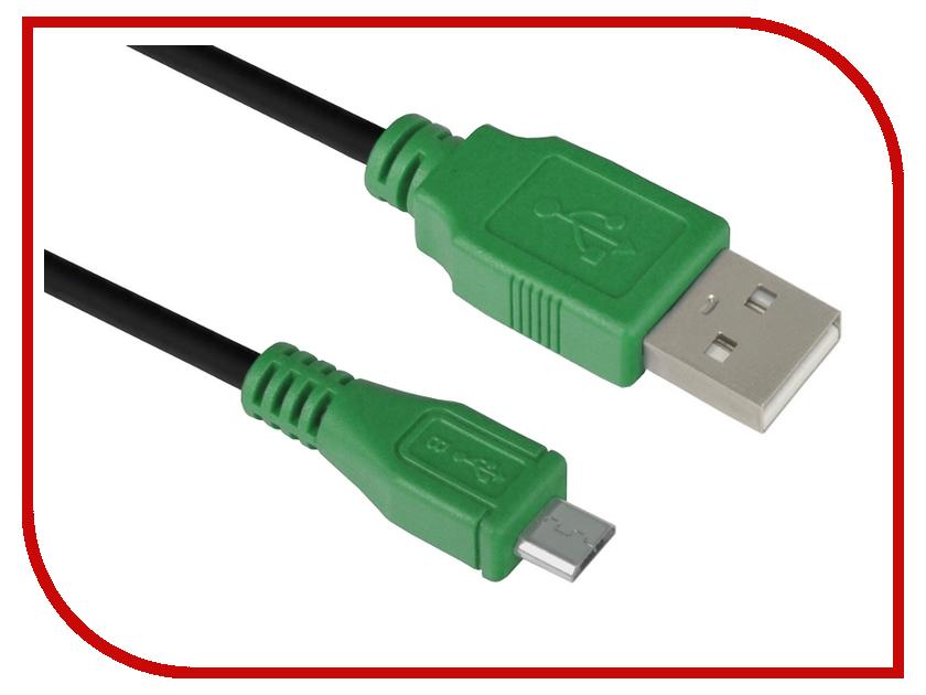 Аксессуар Greenconnect USB 2.0 AM-Micro B 5pin 0.30m Black-Green GCR-UA1MCB1-BB2S-0.3m<br>