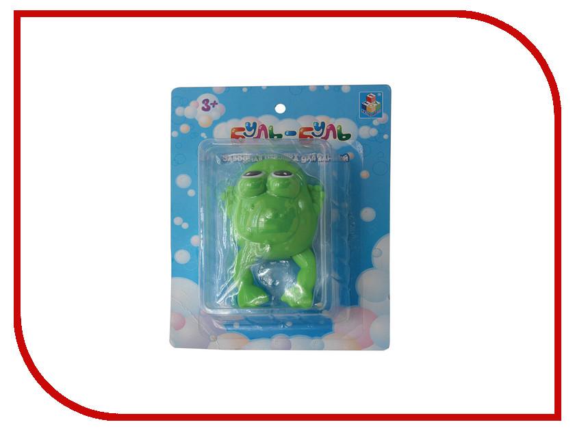 игрушка 1Toy Буль-Буль Лягушка Т57410 жирафики развивающая игрушка подвеска крабик звук буль буль