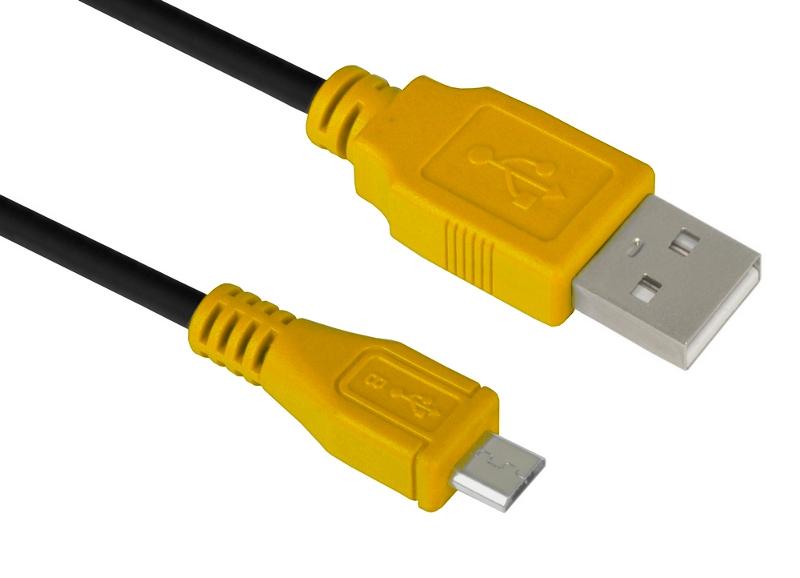Аксессуар Greenconnect USB 2.0 AM-Micro B 5pin 1.0m Black-Yellow GCR-UA3MCB1-BB2S-1.0m аксессуар greenconnect micro usb 2 0 am micro b 5pin 3 0m black gcr ua8amcb6 bb2s g 3 0m