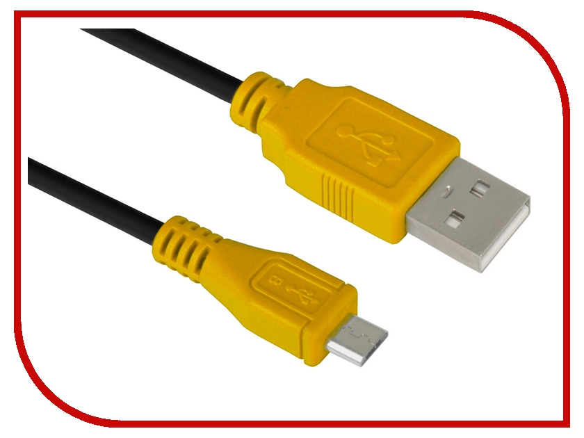 Аксессуар Greenconnect USB 2.0 AM-mini 5pin 1.5m Black-Yellow GCR-UM4M5P-BB2S-1.5m<br>