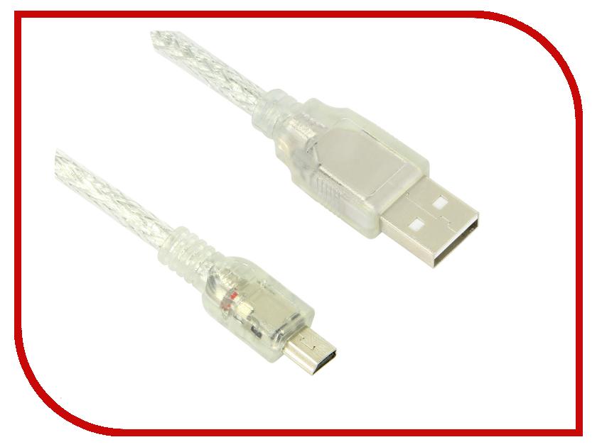 Аксессуар Greenconnect Premium USB 2.0 AM-mini 5pin 1.8m Transparent GCR-UM1M5P-BD2S-1.8m<br>