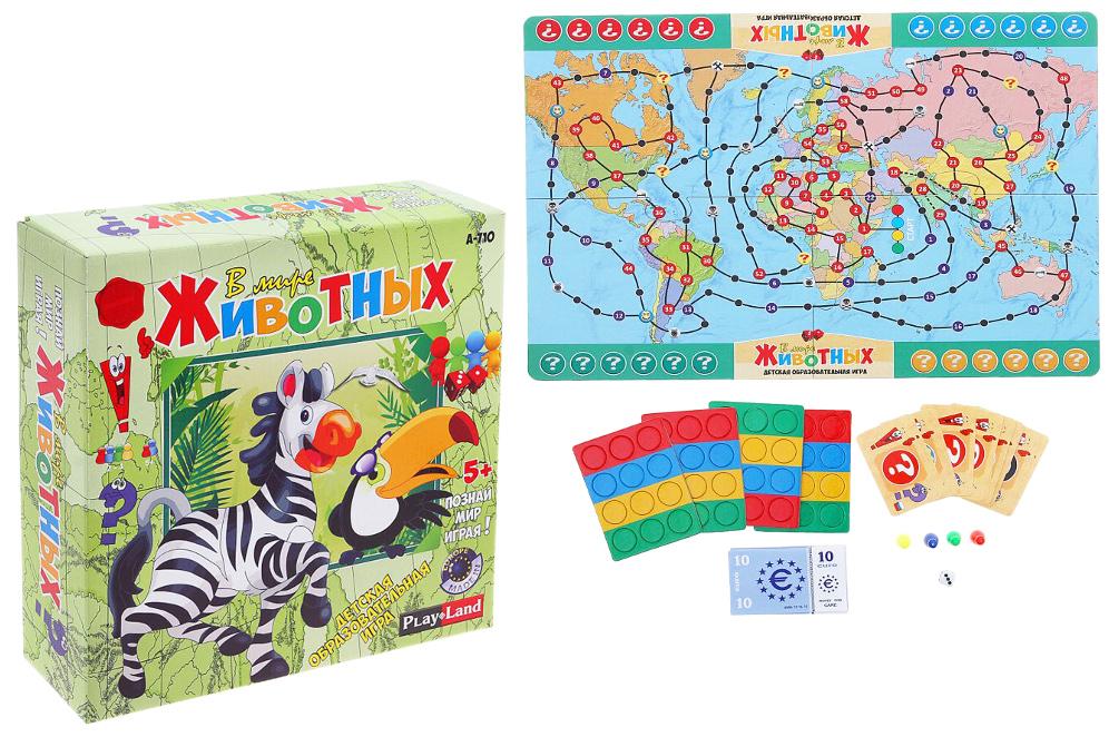 Настольная игра PlayLand В мире животных А-710 настольная игра логическая playland детская европолия a 174