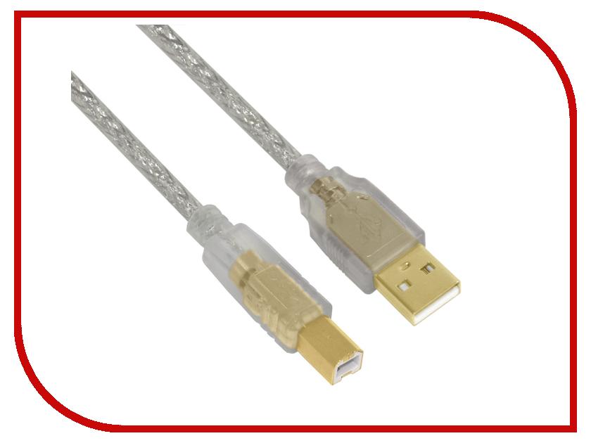 Аксессуар Greenconnect Premium USB 2.0 AM-BM Transparent GCR-UPC2M-BD2SG-0.3m<br>
