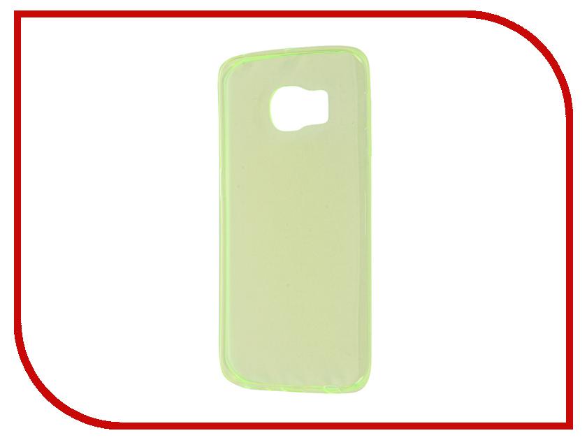 Аксессуар Чехол Samsung Galaxy S6 Edge Zibelino Ultra Thin Case Green ZUTC-SAM-S6-EDG-GRN