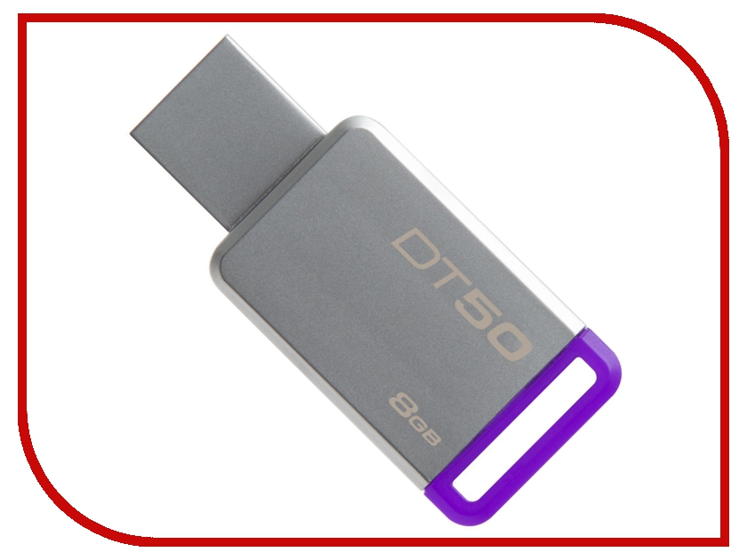USB Flash Drive 8Gb - Kingston DataTraveler 50 USB 3.1 DT50/8GB