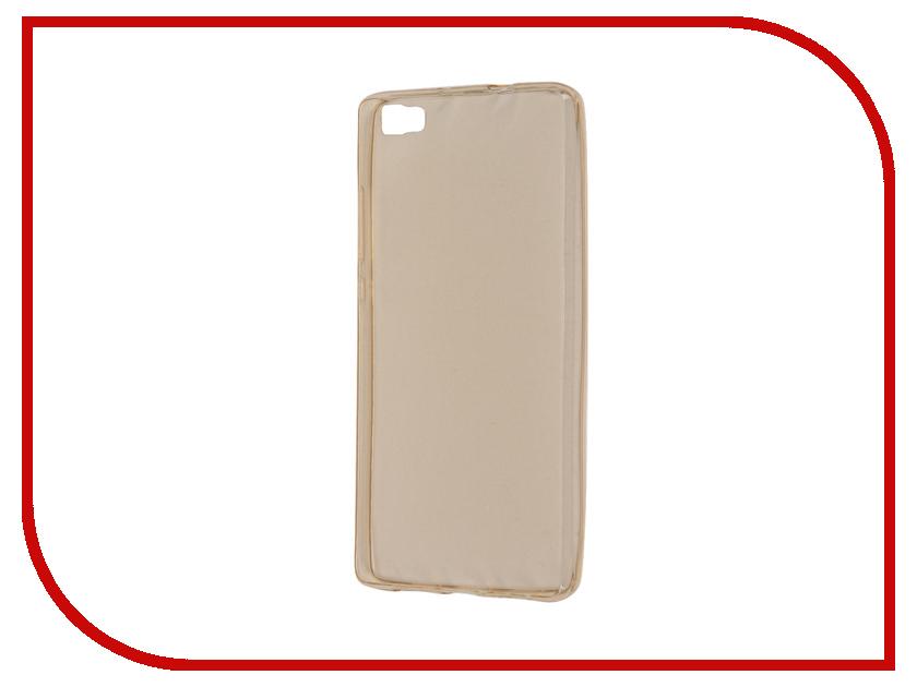 Аксессуар Чехол Huawei P8 Lite Zibelino Ultra Thin Case Gold ZUTC-HUA-P8l-GLD<br>