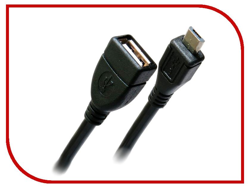 Аксессуар Greenconnect Premium OTG micro USB AM-AF 1.0m Black GCR-MB2AF-BB2S-1.0m<br>
