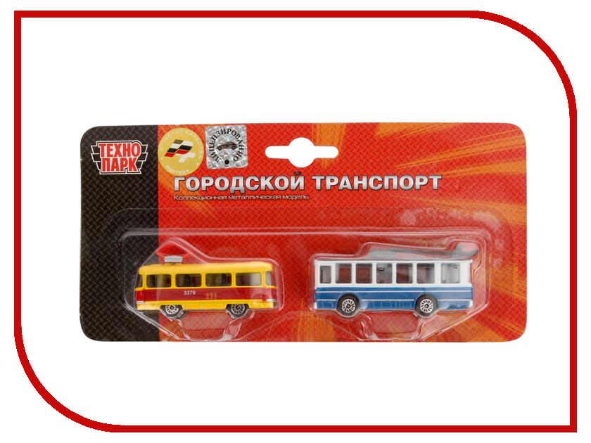 Игрушка Технопарк Трамвай и Троллейбус 2x72 SB-15-06-BLC<br>