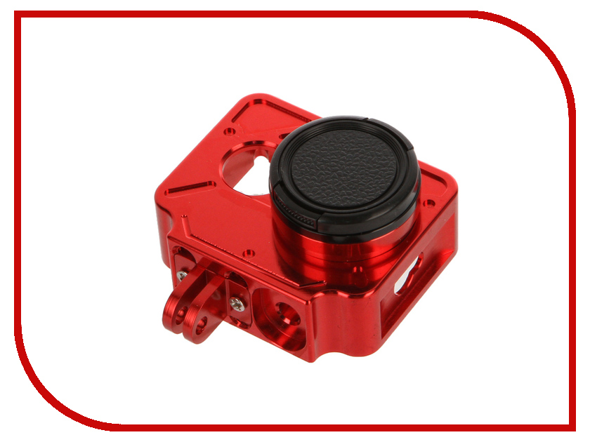 Аксессуар Apres Aluminum Case+UV Lens for Xiaomi Yi Camera Red