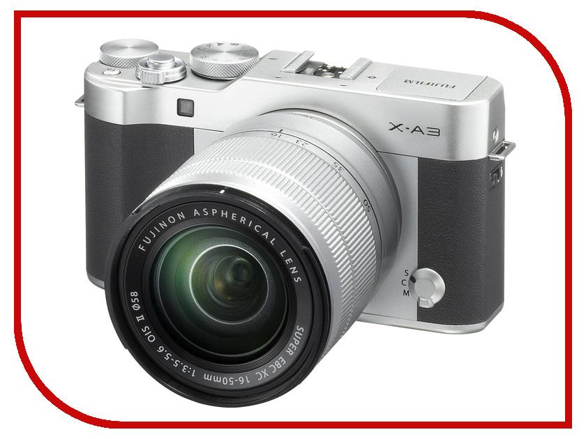 Фотоаппарат FujiFilm X-A3 Kit XC 16-50 mm f/3.5-5.6 OIS II Silver фотоаппарат fujifilm x t1 body graphite silver edition
