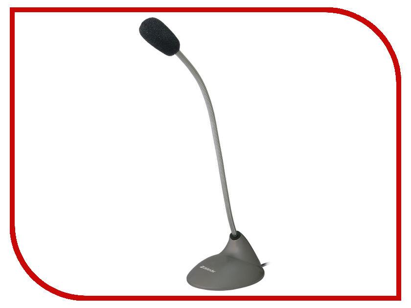 Микрофон Defender MIC-111 Grey 64111 микрофон defender mic 115 1 7m black 64115