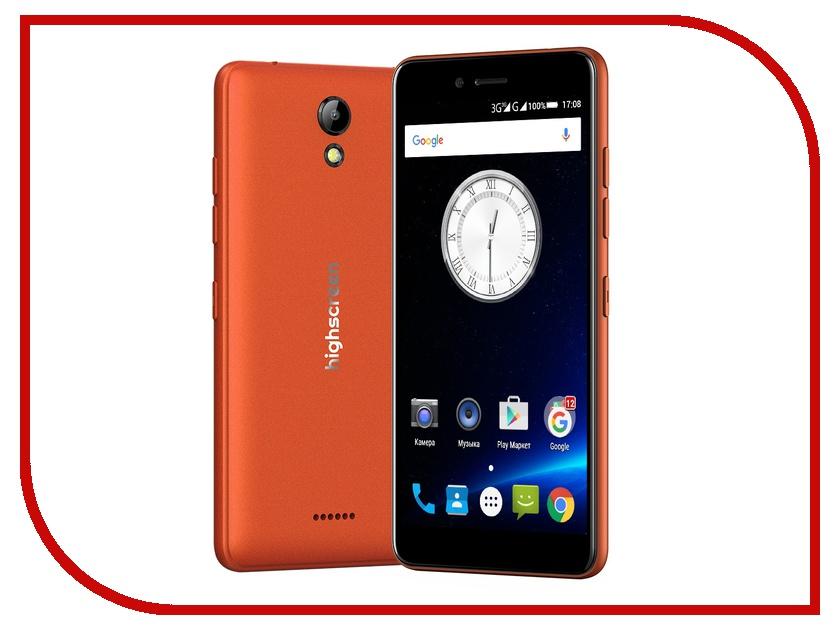 Сотовый телефон Highscreen Easy S Orange сотовый телефон highscreen easy l pro black