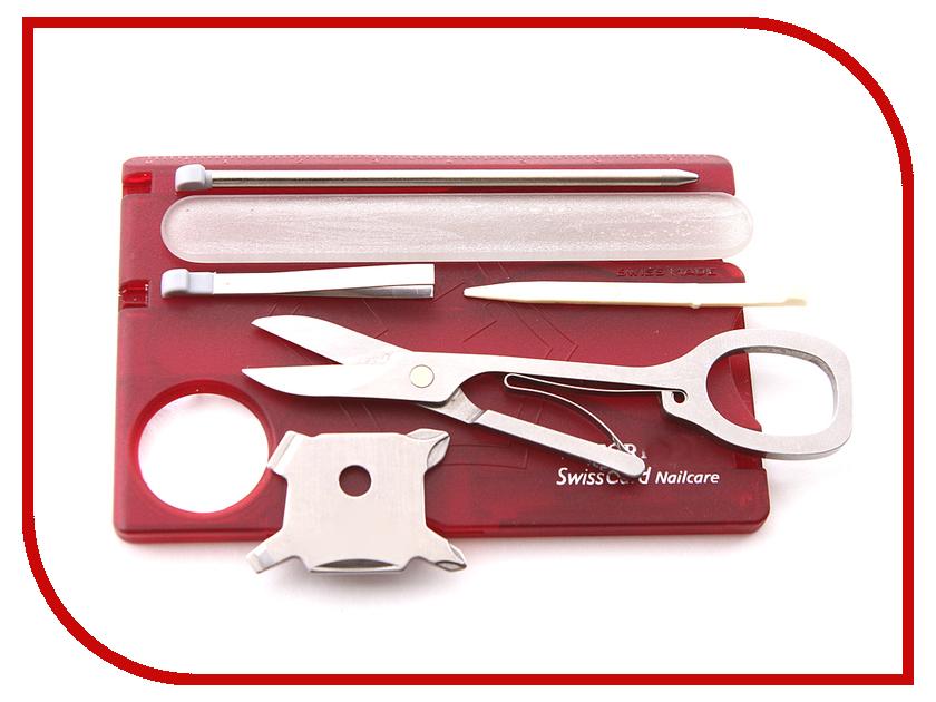 Мультитул Victorinox SwissCard Nailcare 0.7240.T Translucent Red