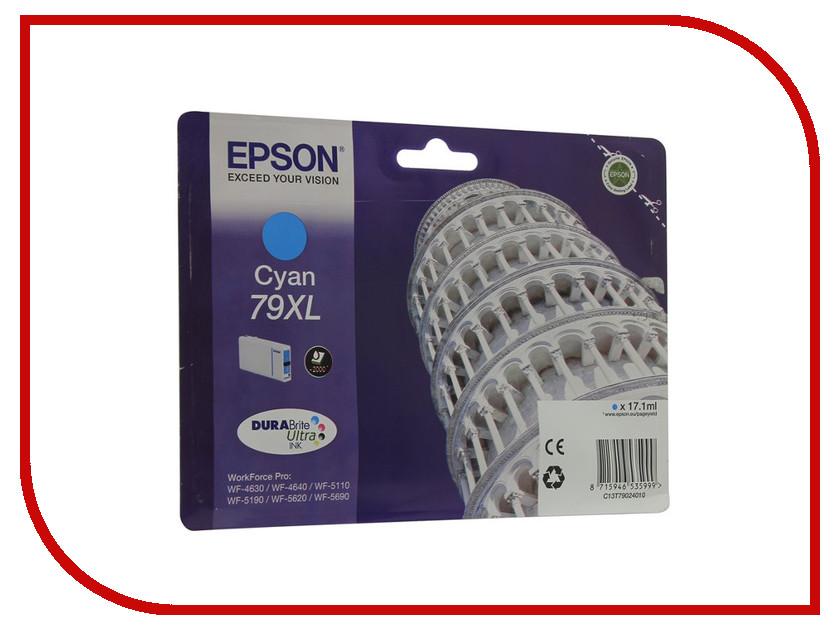 Картридж Epson T7902 C13T79024010 Cyan для WF-5110DW/WF-5620DWF картридж epson t3249 c13t32494010 orange для sc p400