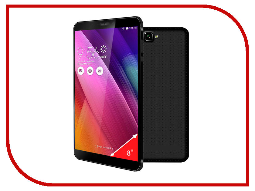 Планшет Ginzzu GT-X853 Black MediaTek MTK8382 1.3 GHz/1024Mb/8Gb/3G/Wi-Fi/Bluetooth/Cam/8.0/1280x800/Android<br>