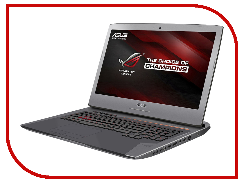 Ноутбук ASUS G752Vm 90NB0D61-M00450 Intel Core i7-6700HQ 2.6 GHz/24576Mb/1000Gb + 256Gb SSD/DVD-RW/nVidia GeForce GTX 1060 6144Mb/Wi-Fi/Bluetooth/Cam/17.3/1920x1080/Windows 10 64-bit