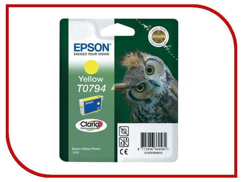 Картридж Epson T0794 C13T07944010 Yellow для P50/PX660/PX820/PX830<br>