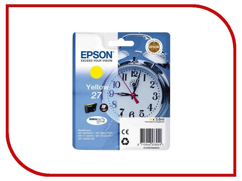 Картридж Epson T2704 C13T27044020 Yellow для WF-7110/7610/7620<br>