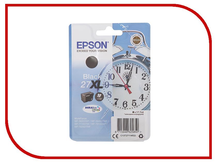 Картридж Epson T2711 C13T27114020 / C13T27114022 Black для WF-7110/7610/7620 printhead original for epson wf 7620 wf 7620 7621 7610 3640 wf 7111 7621 wf 3641 t1881 nozzle print head