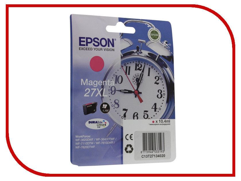 Картридж Epson T2713 C13T27134020 Magenta для WF-7110/7610/7620<br>
