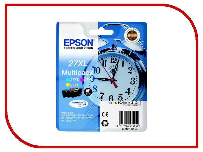 Картридж Epson T2715 C13T27154020 / C13T27154022 CMY для WF-7110/7610/7620 картридж epson t3249 c13t32494010 orange для sc p400