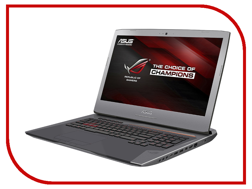 Ноутбук ASUS G752Vs 90NB0D71-M00940 Intel Core i7-6820HK 2.7 GHz/65536Mb/1000Gb + 512Gb SSD/BD-R/nVidia GeForce GTX 1070 8192Mb/Wi-Fi/Bluetooth/Cam/17.3/3840x2160/Windows 10 64-bit<br>