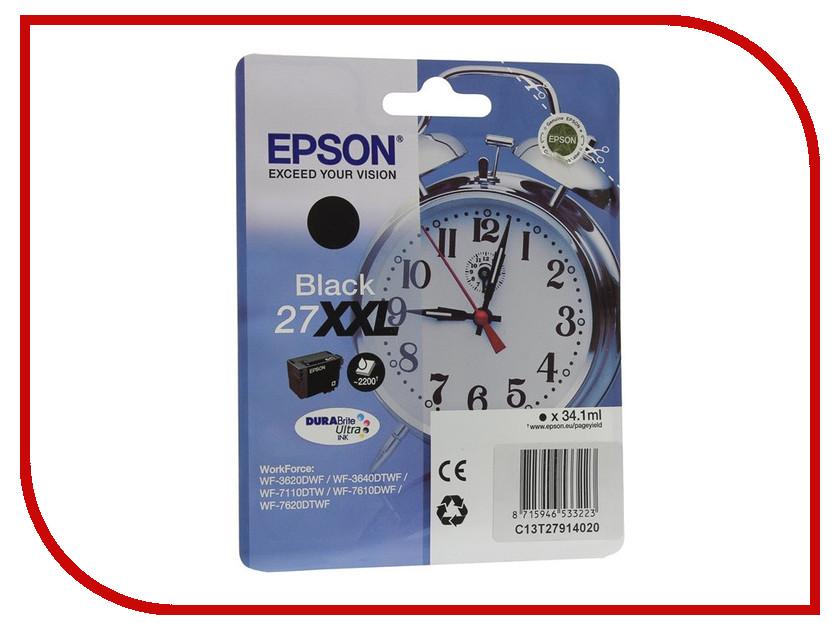 Картридж Epson T2791 C13T27914020 Black для WF-7110/7610/7620