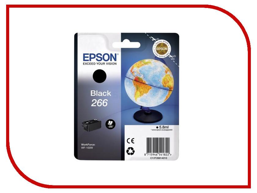Картридж Epson T266 C13T26614010 Black для WF-100 tokyobay nishiki t266 li