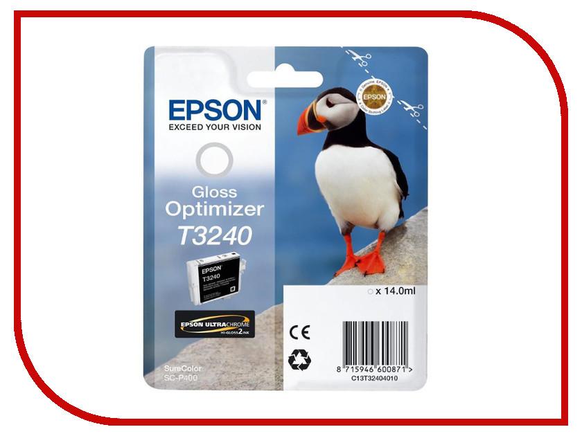 Картридж Epson T3240 C13T32404010 Gloss Optimizer для SC-P400 картридж epson t3249 c13t32494010 orange для sc p400