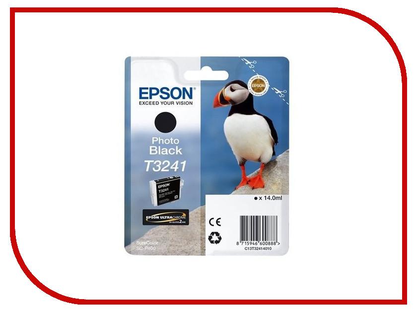 Картридж Epson T3241 C13T32414010 Photo Black для SC-P400 картридж epson t3249 c13t32494010 orange для sc p400